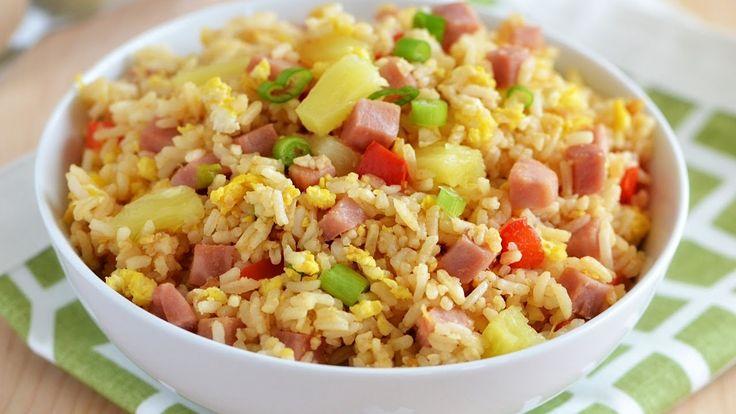 """Hawaiian Fried Rice with Pineapple Chunks Recipe"" ""Delicious Recipes fr..."