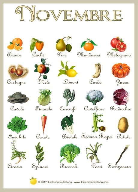 Briciole di Sapori: Novembre... il calendario della natura