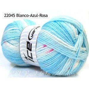 Ice Yarns Baby Design - Lana extra suave rayas y jacquard (self striping) 100gr.