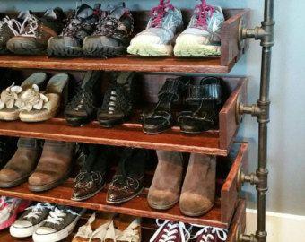 Handmade Reclaimed Wood Shoe Stand / Rack / by ReformedWood