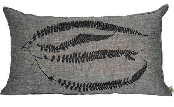 Fern Embroidery 2 Charcoal