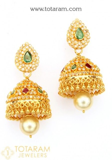 Uncut Diamond Earrings - Buy Online small Uncut Diamond Earrings in 22K Gold or Big Earrings, Uncut Diamond Chand Balis, 22K Uncut Diamond Bali. Our Uncut Diamond Earrings are made in India. We sell Uncut Diamond in all sizes, view our collection from our small earrings to our large earrings
