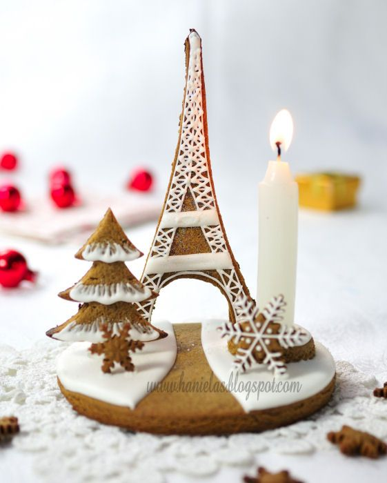 Haniela's: ~Eiffel Tower Gingerbread Centerpiece~
