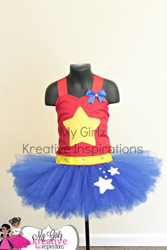 Wonder Woman Super Hero BIrthday Party Tutu Dress - Halloween Costume Outfit - Pageant - Dress Up - Baby Girl 1st Birthday Party 6mos - 5T on Etsy, $64.00