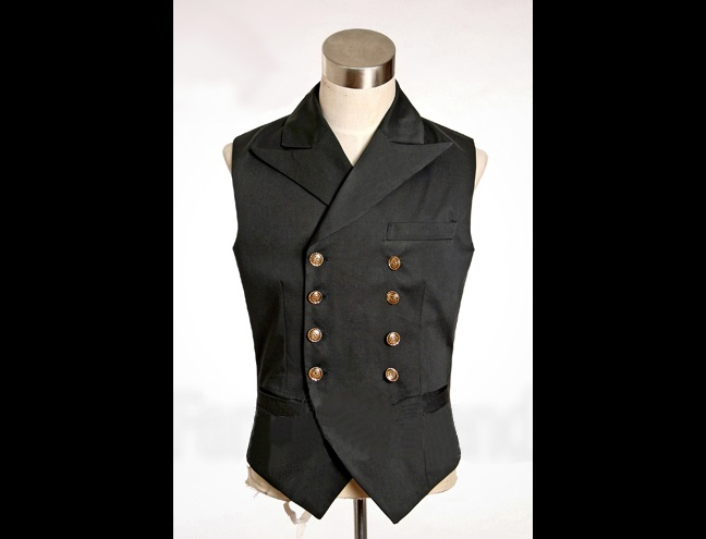 Black steampunk engineer vest