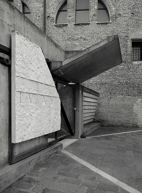 Carlo Scarpa     Entry gate for the Faculty of Architecture, Venice  Campo di Tolentino, 1966, 1969, 1972, 1985
