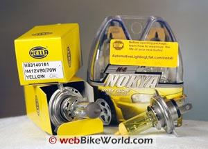 Motorcycle Light Bulbs - Yellow H4
