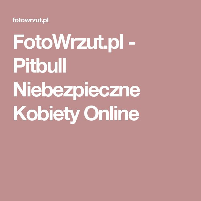 FotoWrzut.pl - Pitbull Niebezpieczne Kobiety Online