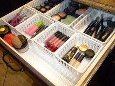 Ideia de organização para maquiagem