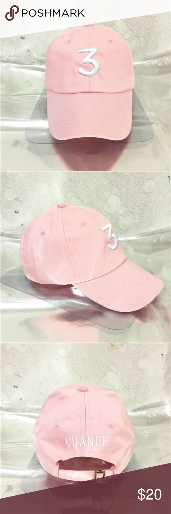 ** CHANCE 3 THE RAPPER KANYE WEST BASEBALL CAP STYLISH BRAND NEW, NEVER BEEN WORN PINK CHANCE THE RAPPER HAT Kanye West Accessories Hats