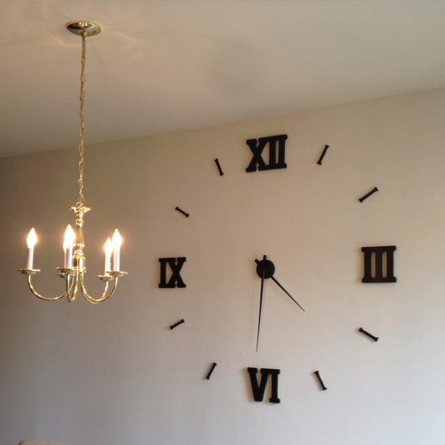 Homemade giant wall clock cheap and easy to put together - Homemade wall clock designs ...