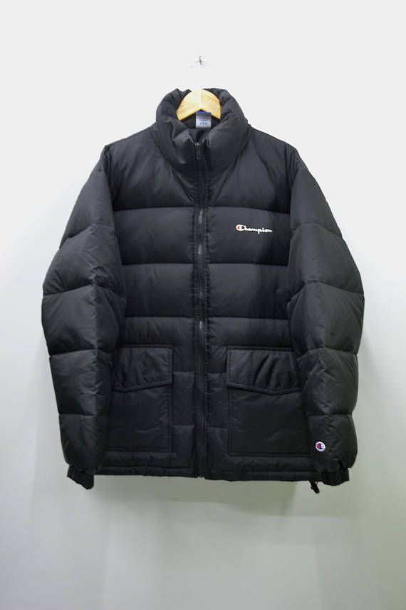 478c277fe00a CHAMPION Jacket Vintage Champion Winter Zipper Puffer Goose Down ...