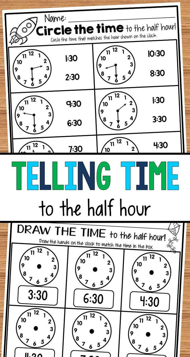 how to write half an hour