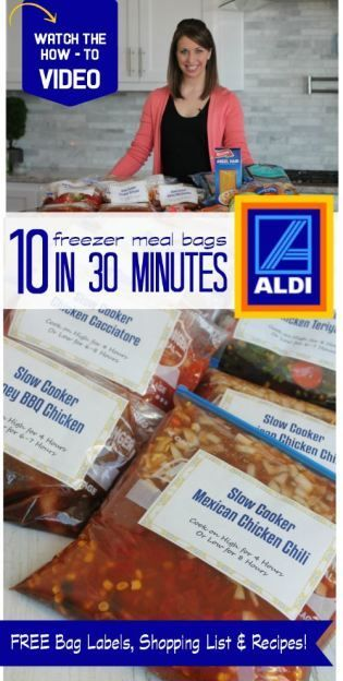 10 Freezer Meal Bags in 30 Minutes! Recipes + How to Video!