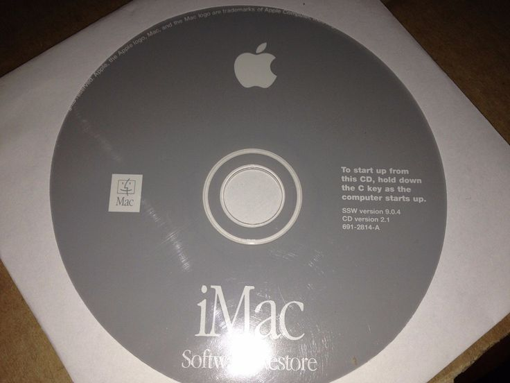 Apple Mac OS 9 Software System Install Disks for iMac version 9.0.4