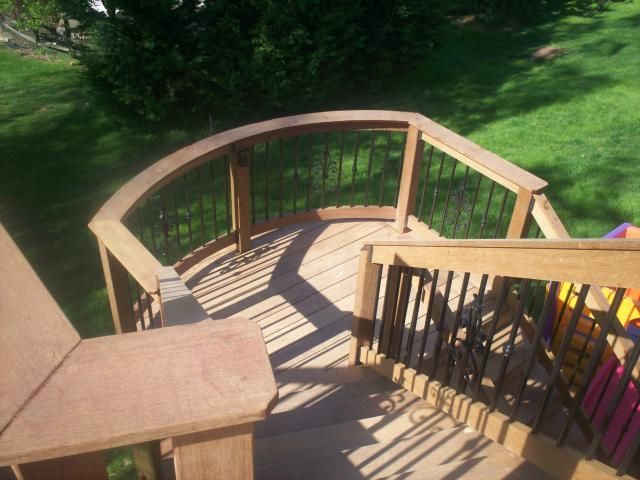 Deck Stairs With Landing Design | Ipe Decking, Hardwood Decks, Ipe Wood,  Decks