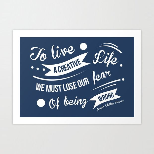 Without Fear Quotation Art Print