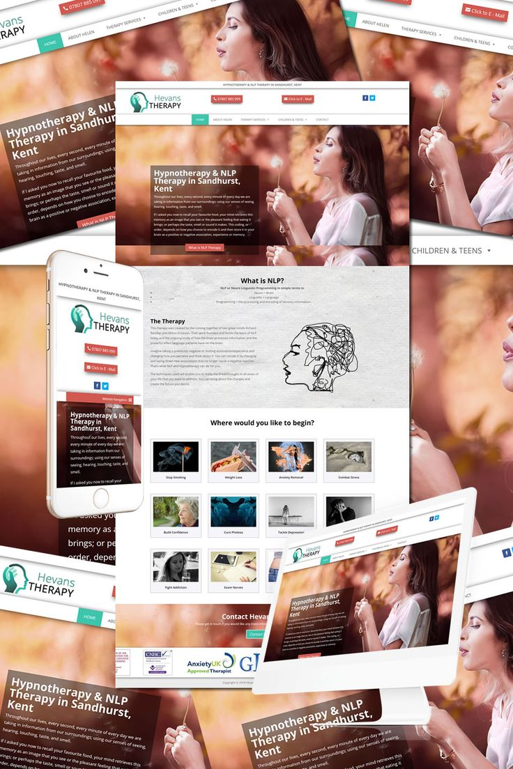 The New Website for Hevens Therapy in Sandhurst in Kent https://hostcat.co.uk/project/hevans-therapy/