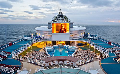 Nothing like watching movies under the stars - 50 things to do on a cruise ship!