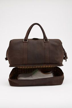 Shoe Compartment Leather Weekender - Of All Threads - Bags : JackThreads