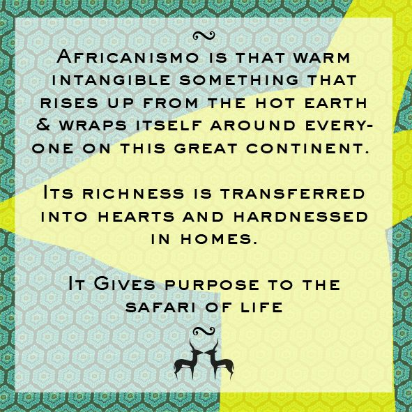 Here is some food for the soul. #Africanismo