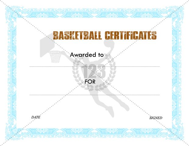 Best Basketball Certificate Template Images On
