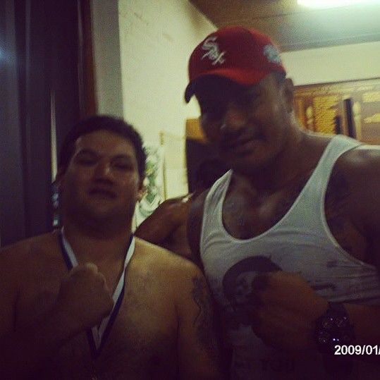 Me with UFC fighter Soa Paleile