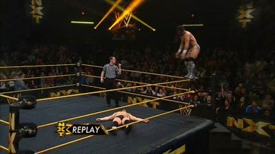 Adrian Neville's Red Arrow finishing move.