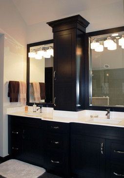 Images Of Spa Inspired Black Bathroom designed by Normandy Remodeling