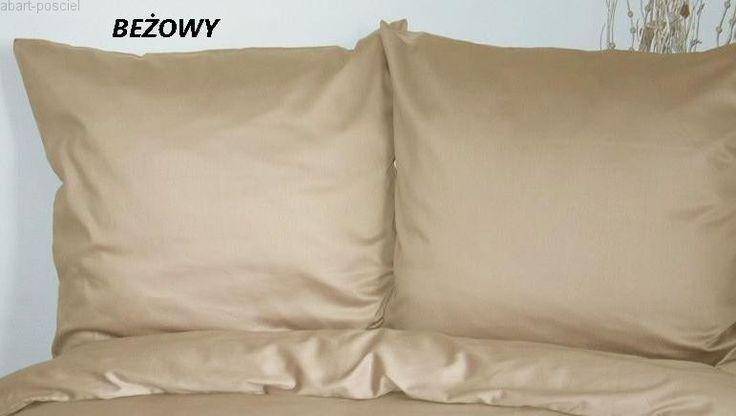 Poszewki na poduszki 70x80 satyna bawełniana 100% , kolory do wyboru abart-posciel
