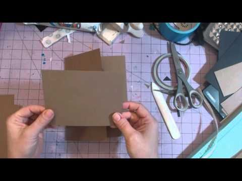 Weekend Neutrals 6 1/2 x 8 1/2 mini album tutorial - YouTube