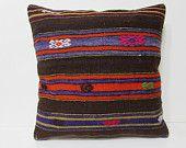 kilim pillow 24x24 euro pillow cover oversized throw pillow 24x24 cushion cover tuscan home decor organic decorative pillow kilim rug 24893