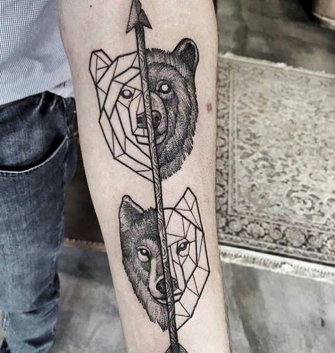 les 26 meilleures images du tableau geometric animal tattoo sur pinterest id es de tatouages. Black Bedroom Furniture Sets. Home Design Ideas