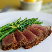 I traded the vegetable oil with EVOO and this was an awesome Ahi Tuna Steak recipe that is paleo / primal