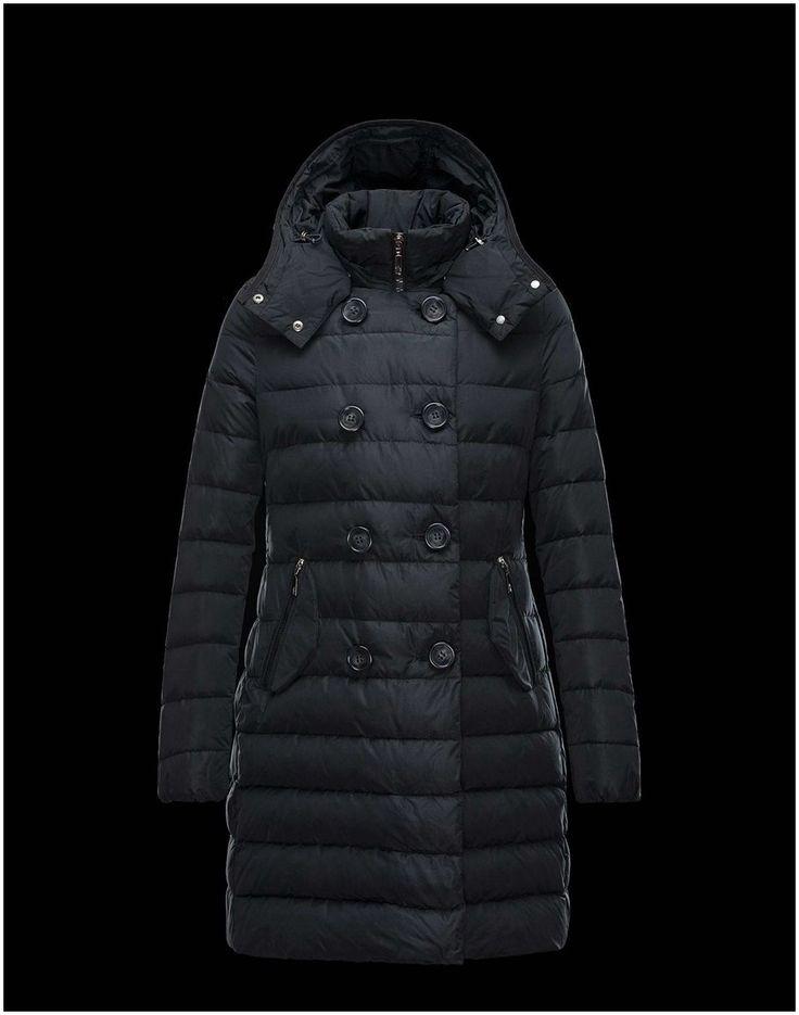 Moncler jacke Neueste - Moncler Garbet Mantel Damen Schwarz