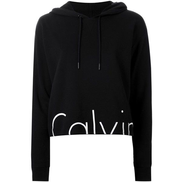 Calvin Klein Jeans Hem Logo Print Hoodie (275 RON) ❤ liked on Polyvore featuring tops, hoodies, black, hooded sweatshirt, hooded pullover, hoodie top, sweatshirt hoodies and calvin klein jeans