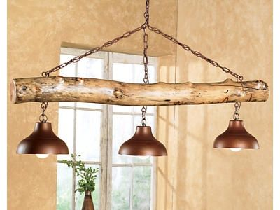 rustic lighting fixtures. the aspen log three bell light fixture is a beautiful and rustic piece for any cabin it would be great addition to country or ranch house decor lighting fixtures