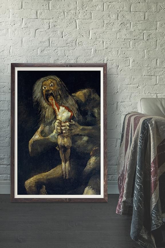 Francisco Goya Saturn Devouring His Son Vintage Wall Art Print