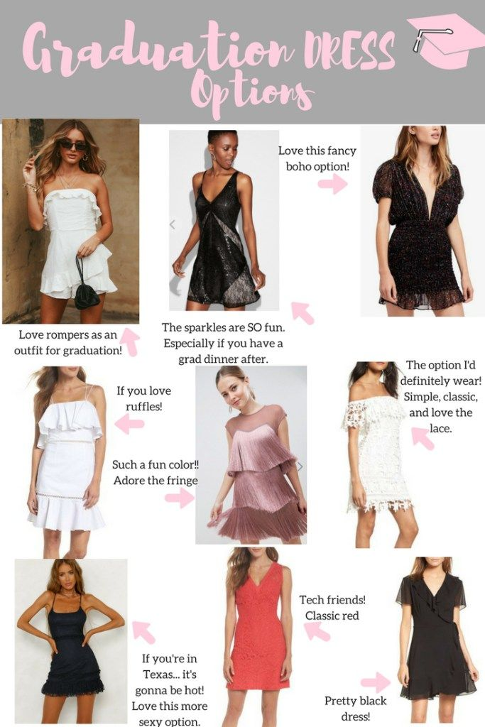 Graduation Dress Ideas Graduation Dress College Fashion Cute