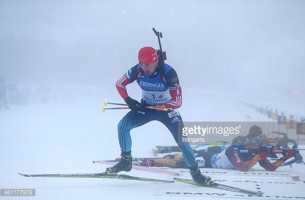 Anton Shipulin in Men's Relay in Oberhof.