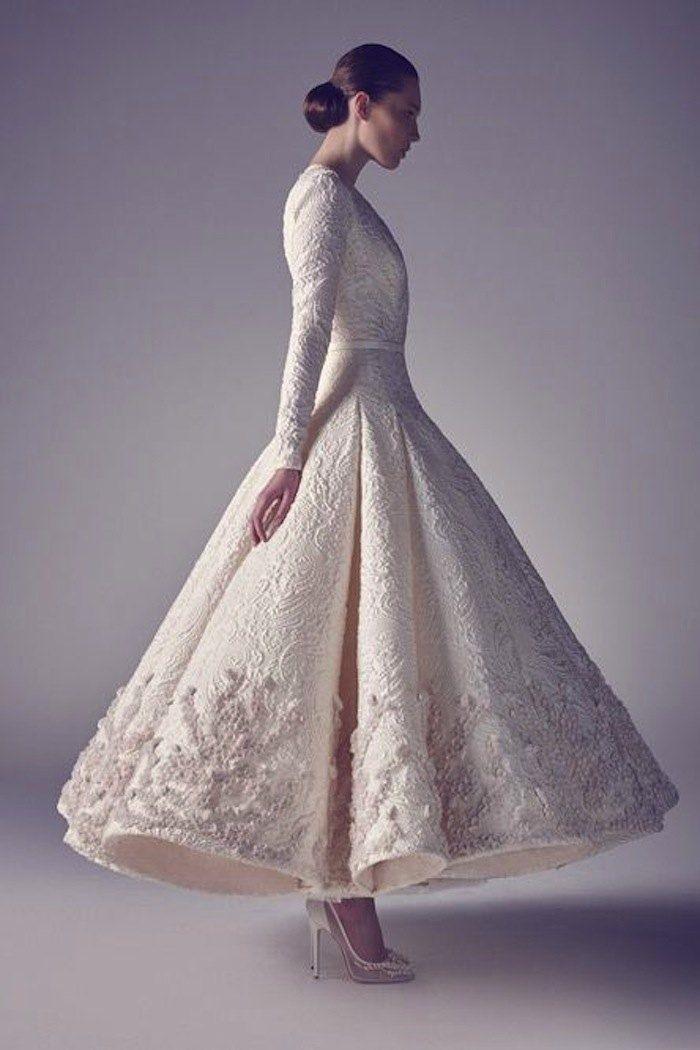 Tea Length Wedding Dresses for Classic Style - MODwedding