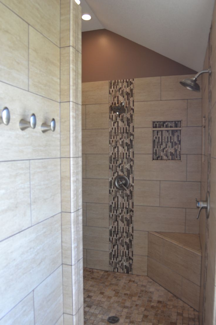 Very Cool Walk In Shower All Custom Tile And Finishes There Used To Be A Ga