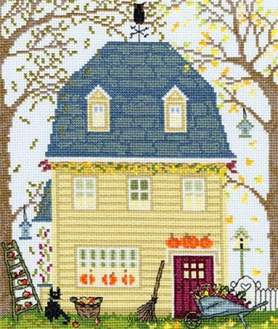 17 best ideas about fall cross stitch on pinterest cross for New england kit homes