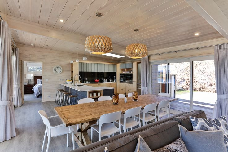 Soft muted tones with scandi style blonded interiors.  Great open plan. Verandah Plan