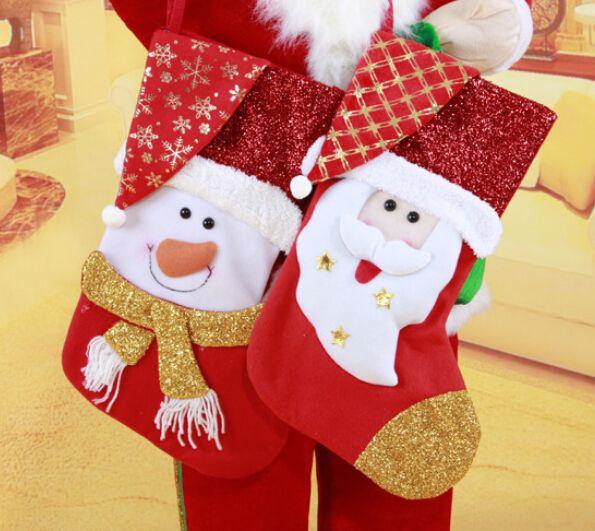 50 см снеговик рождественские чулки новый год дед мороз чулки фестиваль ну вечеринку рождественский подарок чулки бесплатная доставка