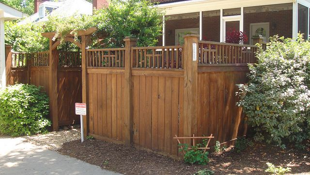 Wood Privacy Fence with 2x2 Topper   Flickr - Photo ...