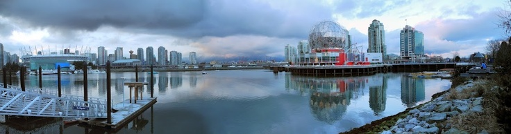 Cloudy late afternoon in False Creek, Vancouver