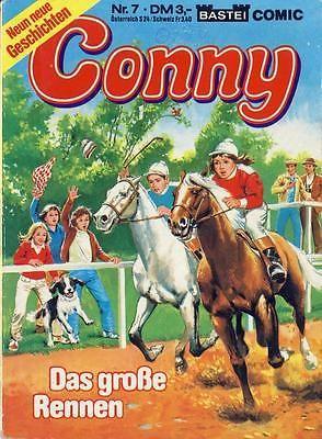 Conny Taschenbuch 7 - Das große Rennen - Bastei Verlag - Pferde-Comic- mit Mulle