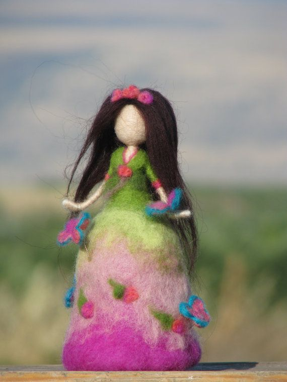 Needle felted Waldorf inspired doll with by Made4uByMagic on Etsy, $65.00