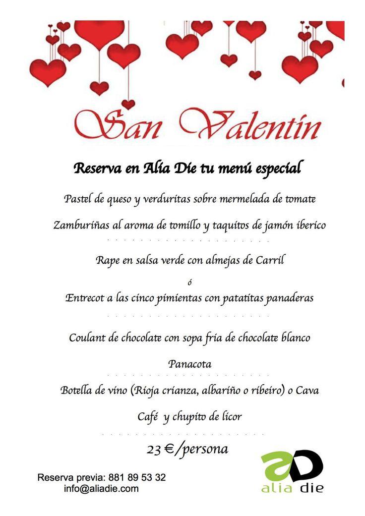 ¿qué opción os gusta más para el cartel del menú de San Valentín?   Opción 2: clásico